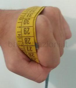Calcolo taglia guanti